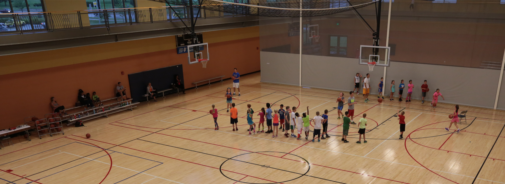 kids playing in community center gym