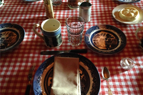Mahaffie Dinners Table Setting
