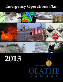 City of Olathe Emergency Operations Plan cover page