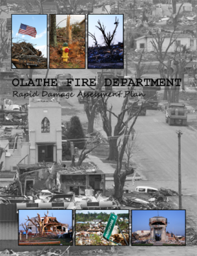 Rapid Damage Assessment Plan cover page showing Greensburg, Kansas following the tornado