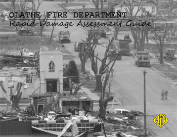 Rapid Damage Assessment Guide cover page showing Greensburg, Kansas following the tornado
