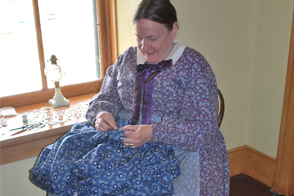 Sewing in sitting room