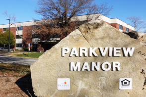 Parkview Manor sign