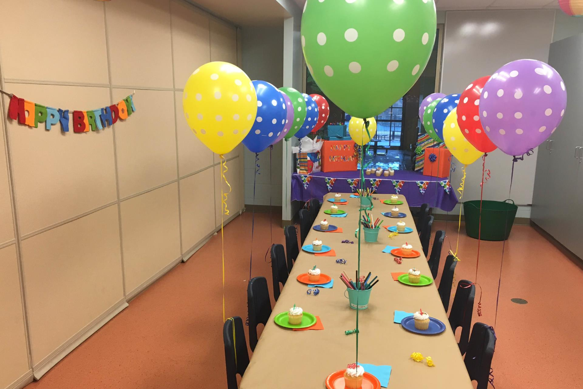 birthday party set up OCC