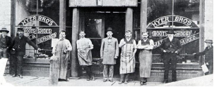Historic Photo of Hyer Boot Company and Employees