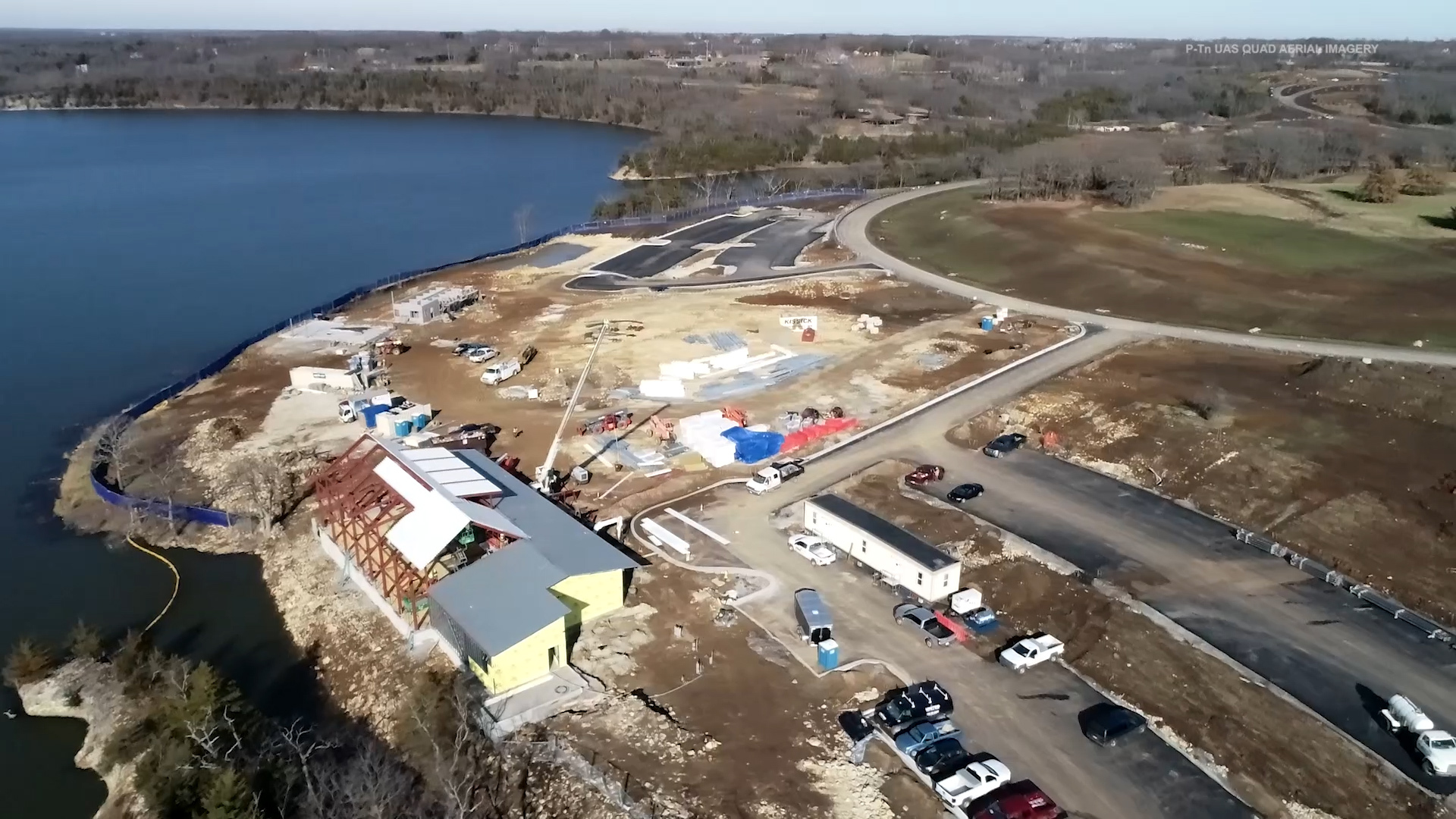 Lake Olathe Flyover - Dec. 2018 Still