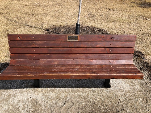 Memorial Bench with Placque