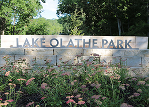 Lake Olathe Park swimming beach and marina open ️