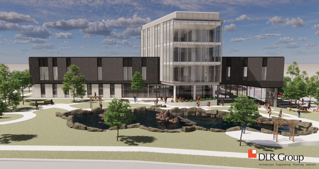 Downtown Olathe Library rendering image